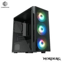 CUBE GAMING NORDERG BLACK Tempered Glass- mATX