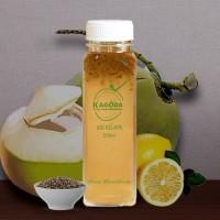 Air Kelapa Asli dan Lemon + Biji Chia 250ml
