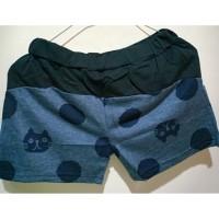 pant pendek motif cat