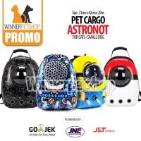 Tas Astronot / Tas Kucing / Tas Ransel Anjing Kucing Transparan Capsul