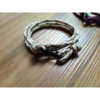 GELANG PRIA TALI PARACORD TALI PRUSIK FREEANCHOR LOOP STYLE WITH CLIP