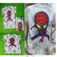 Limited Edition Kaos Superhero Led Baju Nyala Spiderman