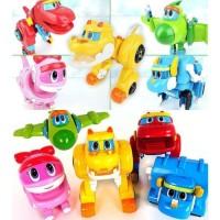 Mini Gogo Dino Rex Tomo Ping Locky Viki Robot Transformation ori