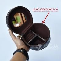 Kotak Emas Tempat Perhiasan & Aksesoris - Jewelry Box Brown Croco