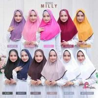 Bergo Instan Milly Miulan Hijab Pet Antem Jilbab jersey Polos Terbaru