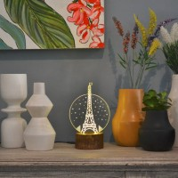 Lampu Tidur Akrilik Dreamlight Paris Travelling Series