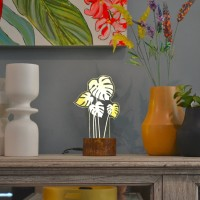 Lampu Tidur Akrilik Dreamlight Monstera Mini Light It Grow Series