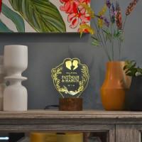 Lampu Tidur Akrilik Dreamlight Wedding Series - Hadiah Pernikahan