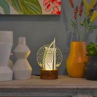 Lampu Akrilik Dreamlight Dubai Travelling Series