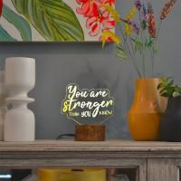 Lampu Tidur Akrilik Dreamlight You Are Stronger Affimation Series