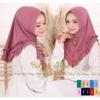 Grosir Alika Jilbab Khimar Instan hijab style / pet antem / vanilla