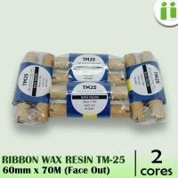 RIBBON BARCODE WAX RESIN TM25 60 MM X 70 M MURAH