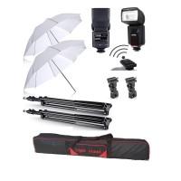 Paket Studio Payung T2 + Flash Godox TT-560 II Internal Trigger + Tas