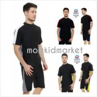 Baju Renang Pria Dewasa Atas Bawah Celana Pendek DV-DW-AB-029 - Baju Renang, XL