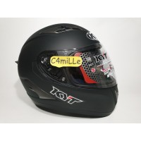 HELM KYT FALCON 2 SOLID BLACK DOFF DOUBLE VISOR FULL FACE