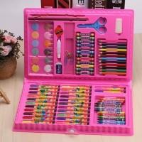 Crayon + Pensil Warna Alat Tulis Set Koper Isi 86 Back To School