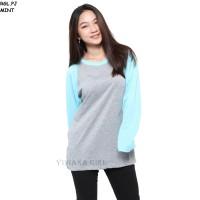 Belle Fashion RGL.PJ Baju Kaos T-Shirt Raglan Jumbo Lengan Panjang Mur