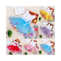 BTS Kids Girls Sleeveless Princess Pageant Party Tutu Dresses Lace Bow