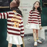Dress anak perempuan salur 3 warna memikat hati