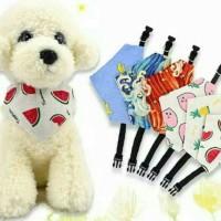 6 Kalung Celemek Leher Anjing Motif