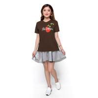 Kaos Tshirt Lengan pendek Wanita Gaya korea bordir - Jfashion Lulu