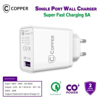 COPPER Single Port Wall Charger 5A (QC 3.0 & VOOC 20W)