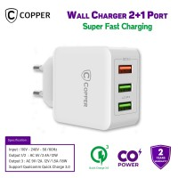 COPPER Wall Charger 2 Port CoPower™ +1 Port QC 3.0