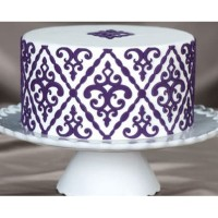Filigree Damask Silicone Onlay Marvelous Molds