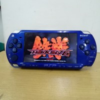 psp slim 2000 electric blue second 16gb full game