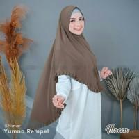 Khimar Yumna Rempel BAHAN JERSEY SUPER SIZE XL JUMBO