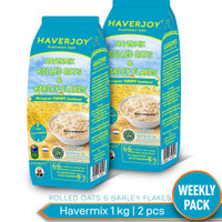 Havermix Weekly Pack Rolled oats & Barley Flakes 1kg - 2pcs