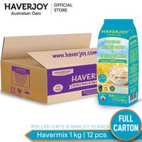 Haverjoy Full Carton Havermix Rolled Oats & Barley Flakes 1 Kg