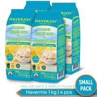 Haverjoy Small Pack Havermix Rolled Oats & Barley Flakes 1kg - 4pcs
