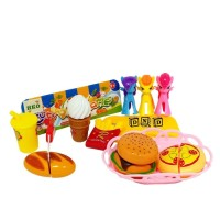 Mainan Edukasi Anak Cutting Game Fast Food Cut Figure Little Pony 9906