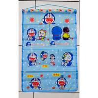 pouch gantung /hanger karakter 7 sekat (hello kity,doraemon,line)