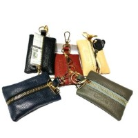 Gantungan kunci mobil kulit zipper for toyota honda daihatsu dll - dom