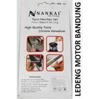 Kunci L Set 9pc Nankai Hex Key Wrench Ball Point Montir Mekanik Motor