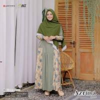 YASMEERA AZRINA DRESS GREEN HAZE GAMIS ONLY KATUN MADINAH KATUN JEPANG