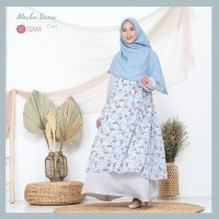 ZIZARA ALESHA DRESS C01 GAMIS ONLY WOLLYCREPE MIX CERUTI MOTIF