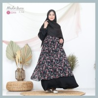 ZIZARA ALESHA DRESS C04 GAMIS ONLY WOLLYCREPE MIX CERUTI MOTIF