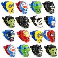Jam Tangan Anak Robot Super Hero Karakter Motif Cartoon Lucu