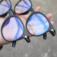Kacamata Wanita Pria Frame Sunglasses Anti Radiasi Lensa Transparan Im