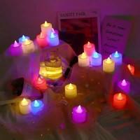 Lampu Tidur Lilin Elektric Led Mini Candle Light Dekorasi