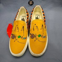 Sneakers Vans Slip On Ralph Steadment Gonzovation Yellow