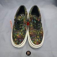 Sneakers Vans Era Over Spray Black Sepatu Wanita