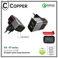 Charger Copper 2 port VX-07 4.0A