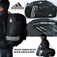 Tas Travel / Tas Gym / Tas Olahraga / Travel Bag Multi Adidas - Hitam