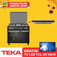 Kompor Oven Freestanding Cooker TEKA FS 96F 5G BLACK (TEKA FS96F B 5G)