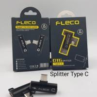 splitter otg sambungan type c jack audio headset