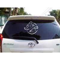Sticker Decal Mobil Cutting Vinyl Reflektif Hantu Ghostbuster Dilarang